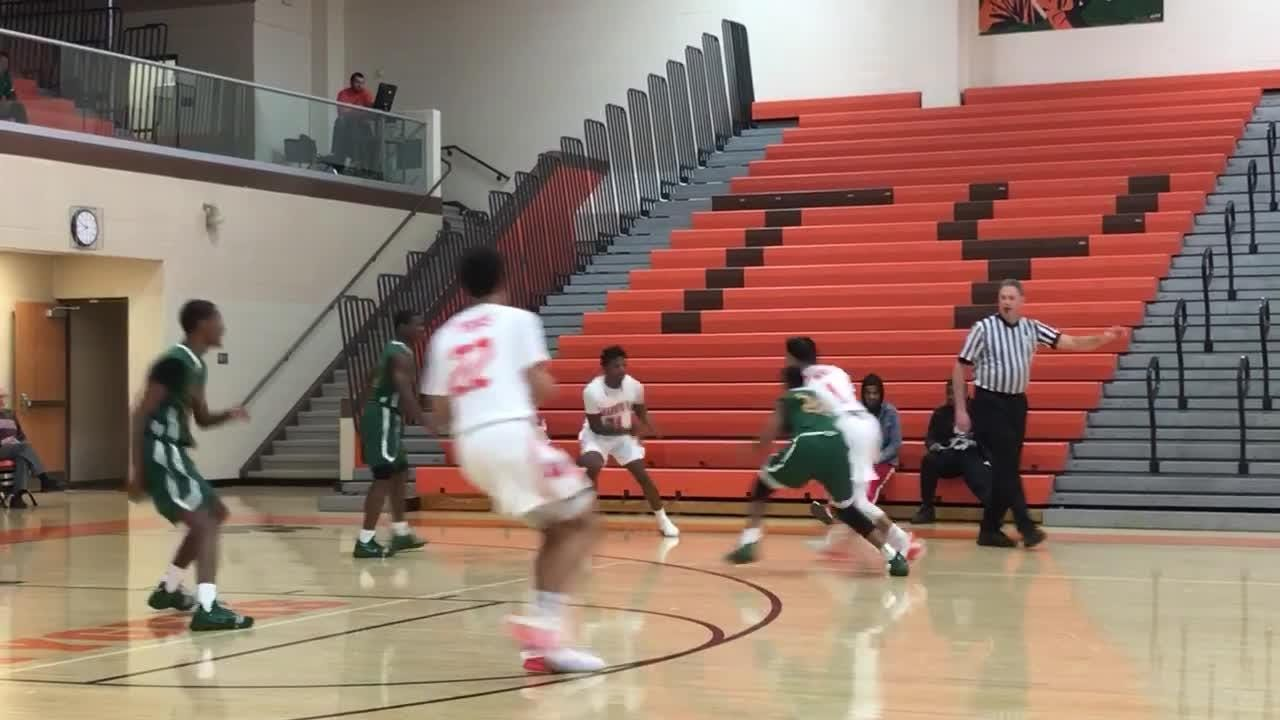 Big-time DI football recruit Angelo Grose hits a floater in the lane in win over Columbus Northland