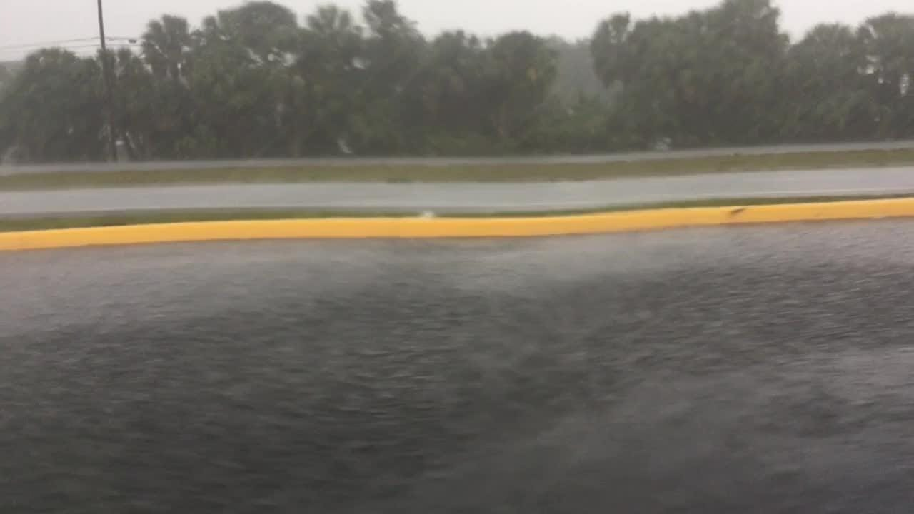 Scenes in central and north Brevard as rain drenched most of the county on Sunday.