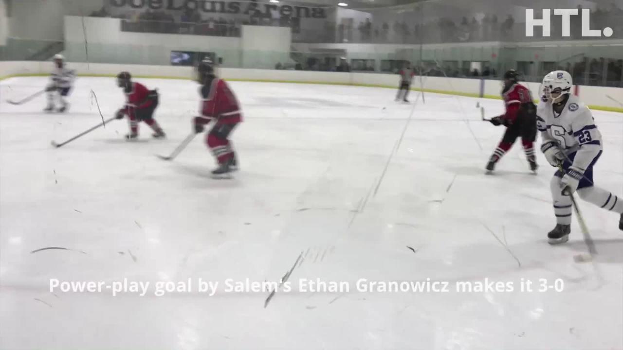 Gavin Hall blanks Churchill as Salem earns 4-0 victory at Victory Ice Center