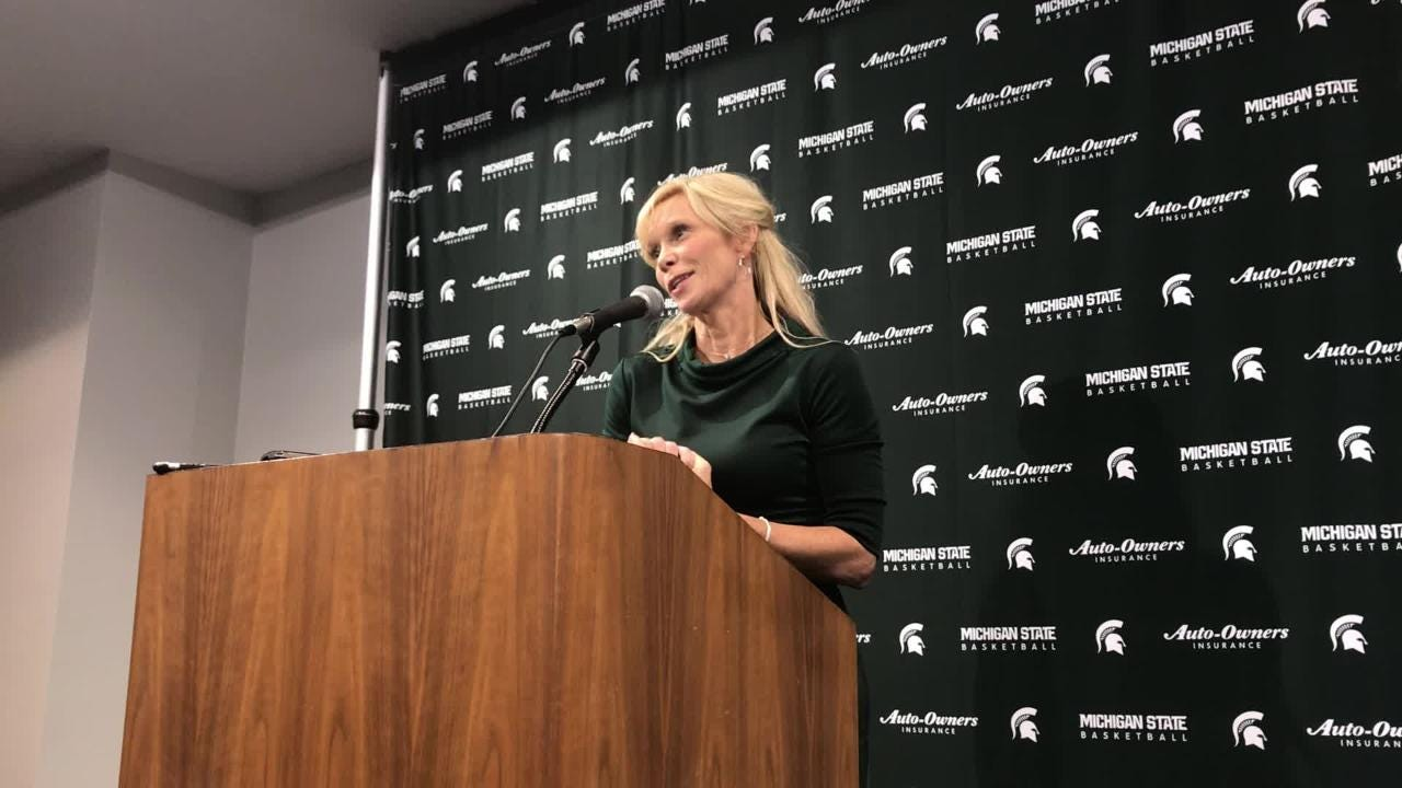Hear remarks from MSU women's basketball coach Suzy Merchant after her team's 88-82 win over Oregon.