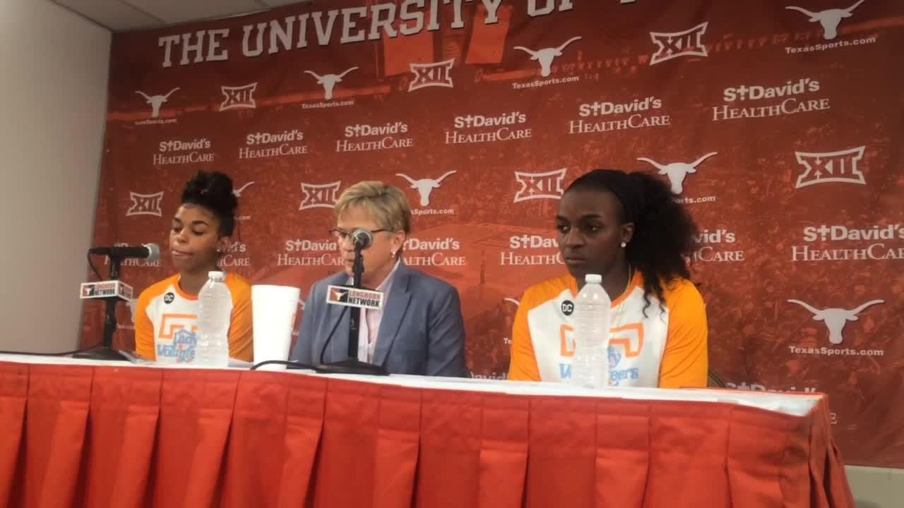 Tennessee benefited from strong peformances by Meme Jackson and Evina Westbrook in beating Texas.