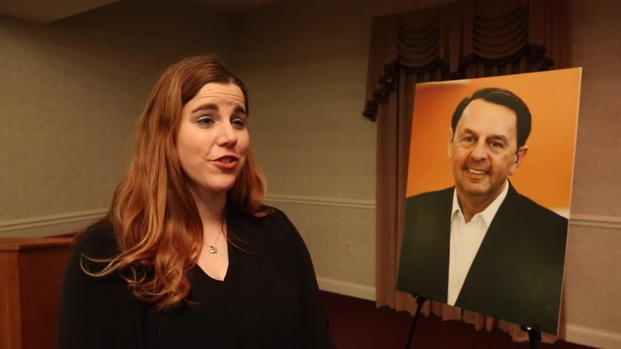 Wayne Estopinal's daughter, Ashley, talks about her father following his memorial service on Sunday.