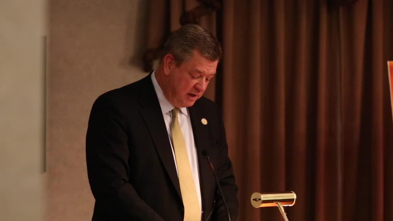 Rep. Steve Stemler remembers Wayne Estopinal at memorial