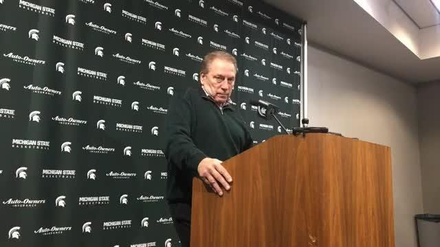 Michigan State basketball coach Tom Izzo speaks to the media on Monday, Dec. 10, 2018, in East Lansing.
