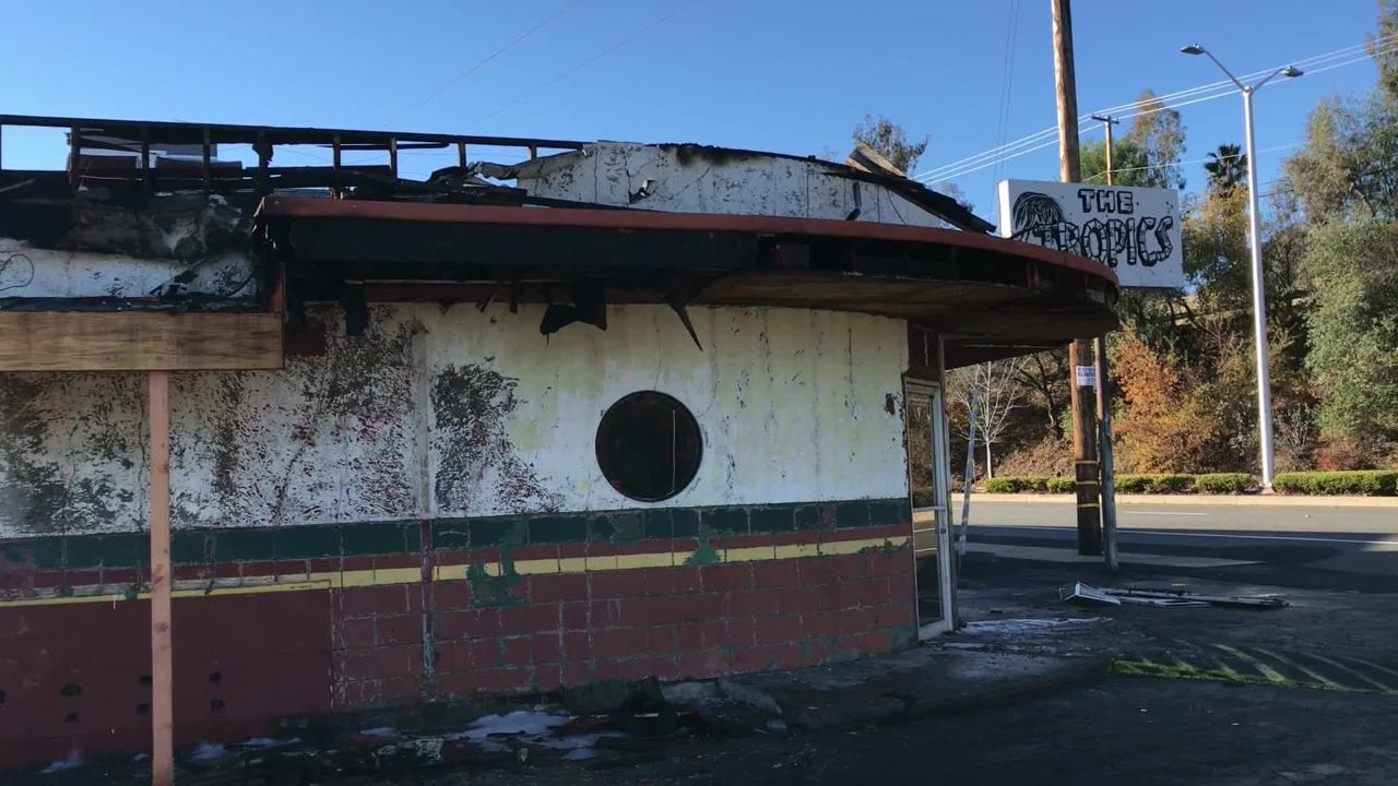 A Sunday Dec. 9, 2018, fire caused about $60,000 in damage to The Tropics bar on South Market Street in Redding.