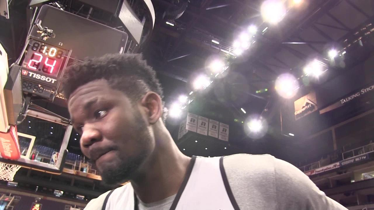 Phoenix Suns rookie 7-footer Deandre Ayton talked Monday about his locker room exchange with Devin Booker after Thursday's 22-point loss at Portland.