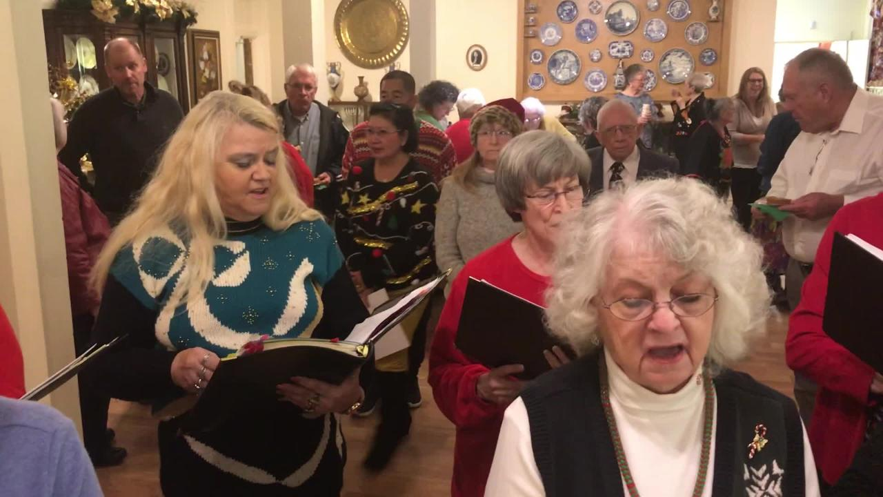 The Deming Community Choir entertains at Green Tea event for Deming-Luna-Mimbres Museum.