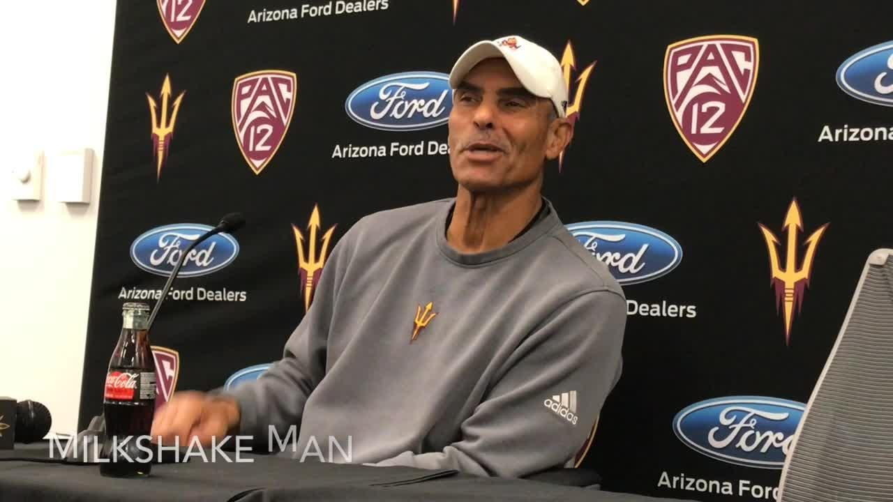 Herm Edwards dreams about making a stop for his favorite milkshake on ASU's bus trip to Las Vegas Bowl.