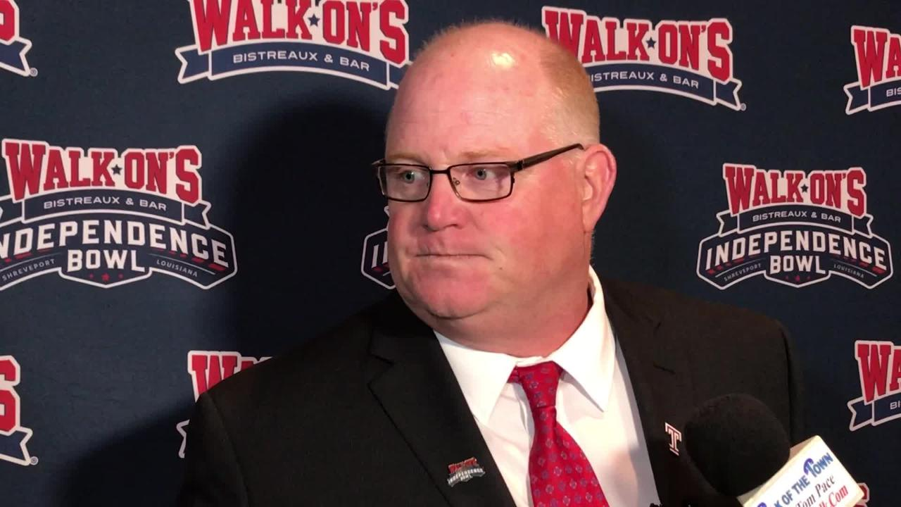 Temple interim head coach Ed Foley talks about the Walk-On's Independence Bowl.
