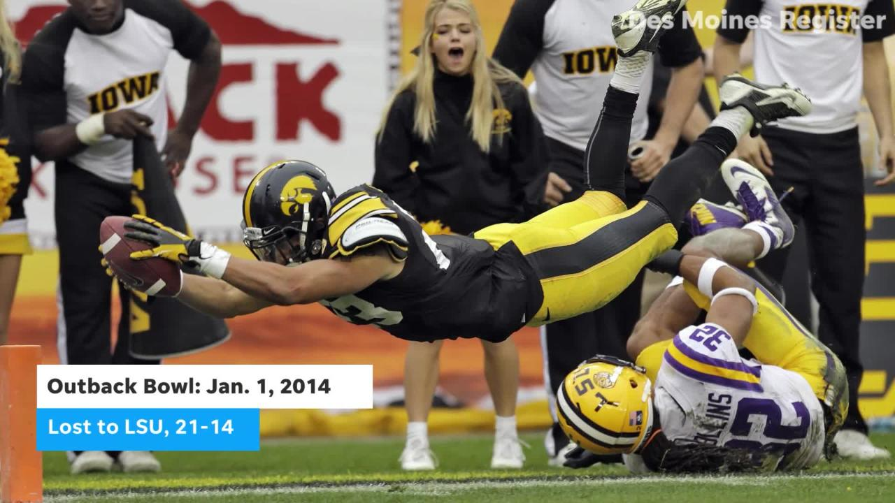 The Hawkeyes will be looking to repeat the success they had at the 2017 Pinstripe Bowl when they face Mississippi State in the Outback Bowl.