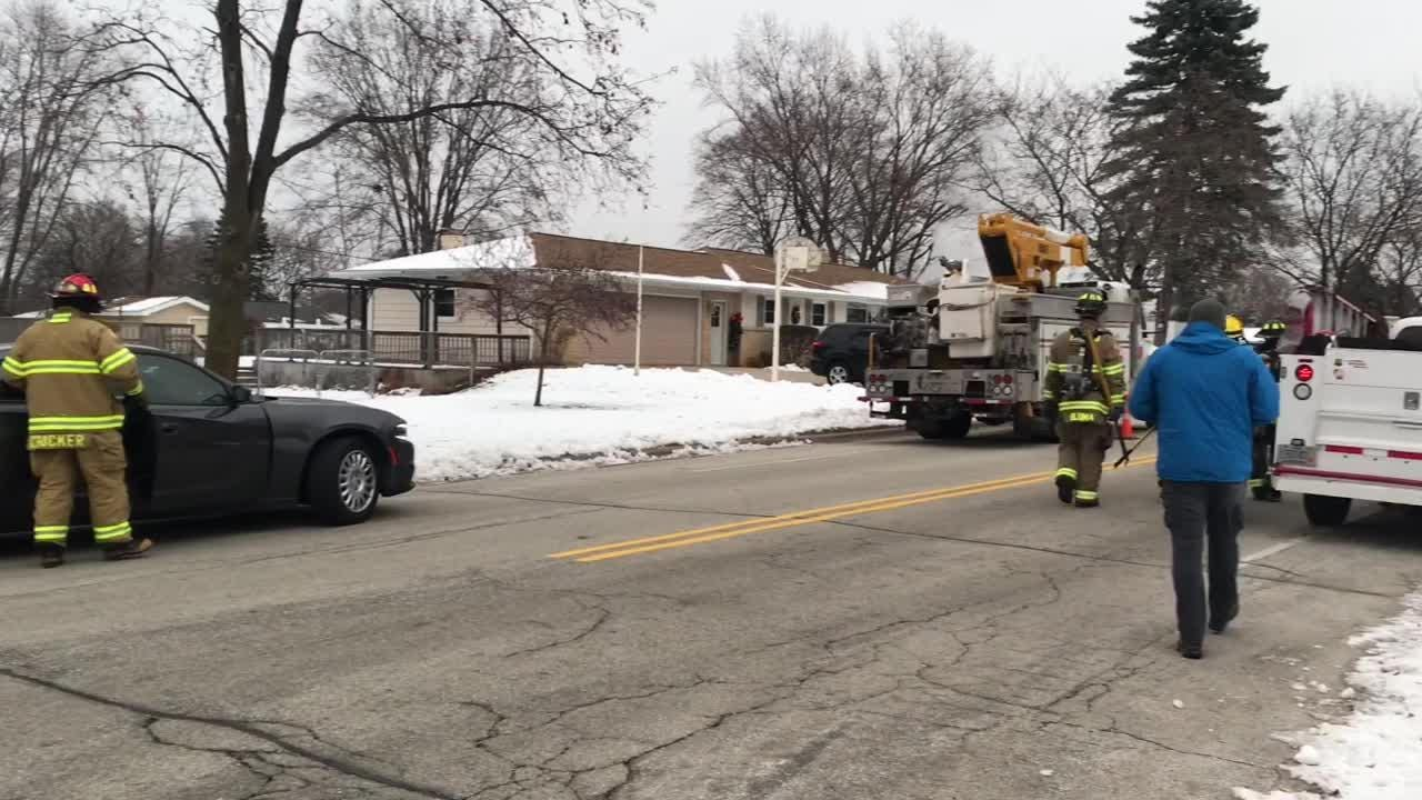 Jody Crocker, Captain of Ashwaubenon Public Safety, discusses Tuesday morning fire at 980 Marvelle Lane. Crews saved five people and two pets.