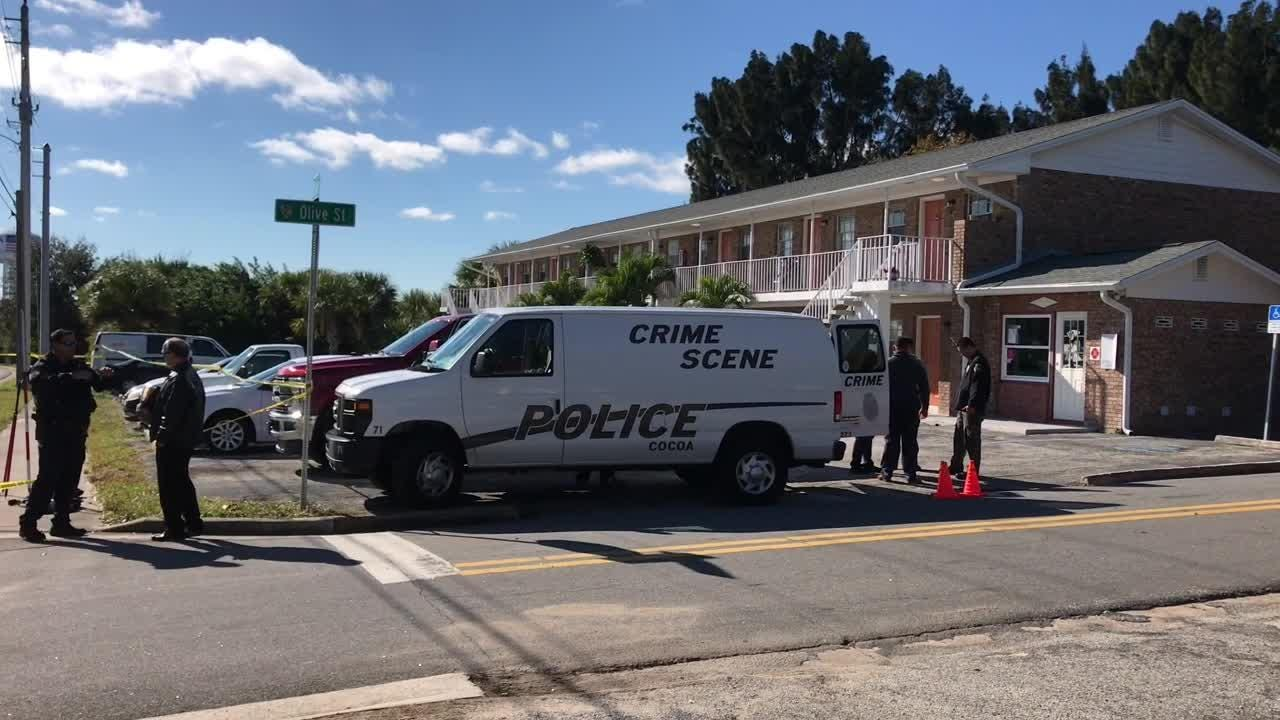 Cocoa police investigate officer-involved shooting at Forrest Avenue and Olive Street.