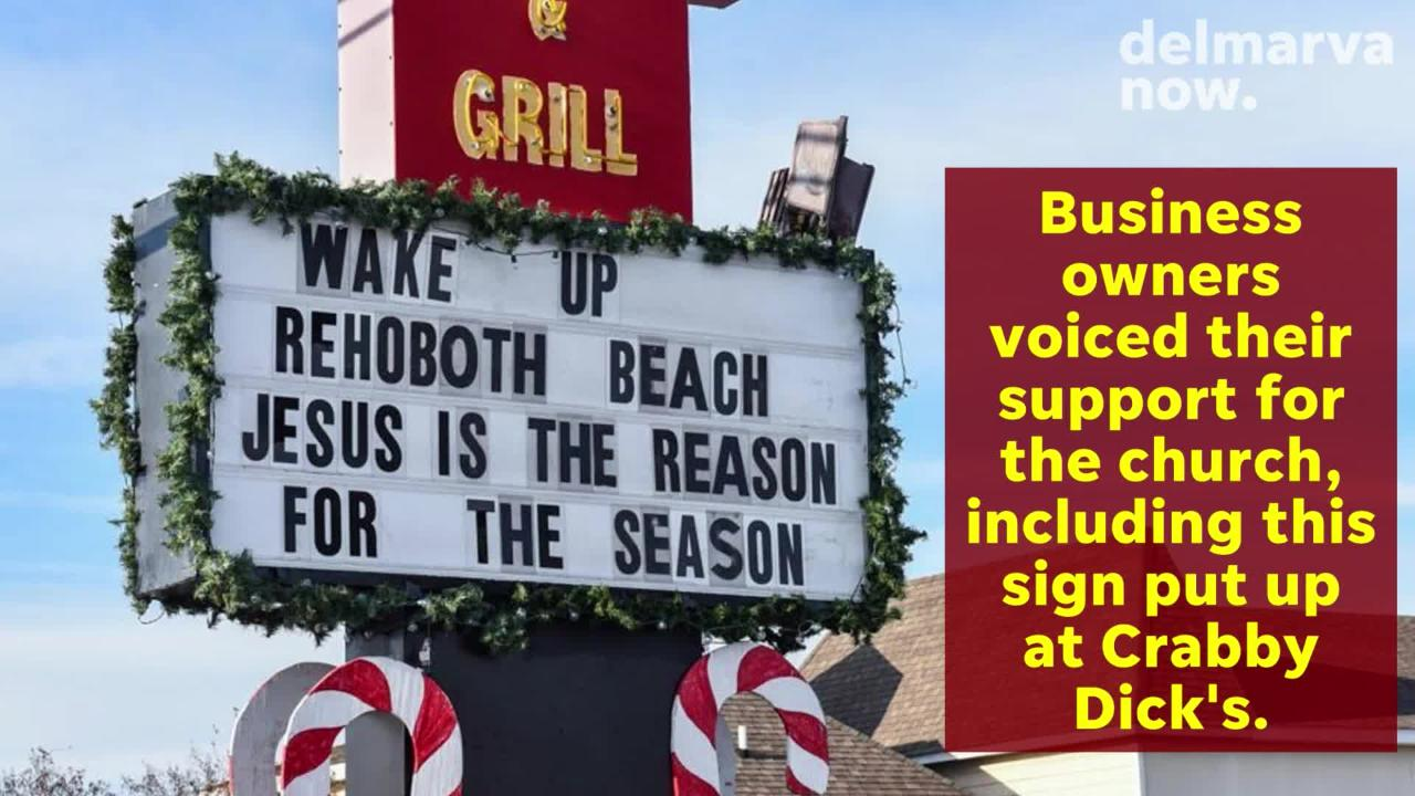 Some Rehoboth Beach locals are fighting to keep a Nativity scene on display after it was removed from a prominent spot for public viewing.