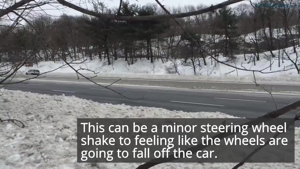 Why is my car shaking after the snow storm?