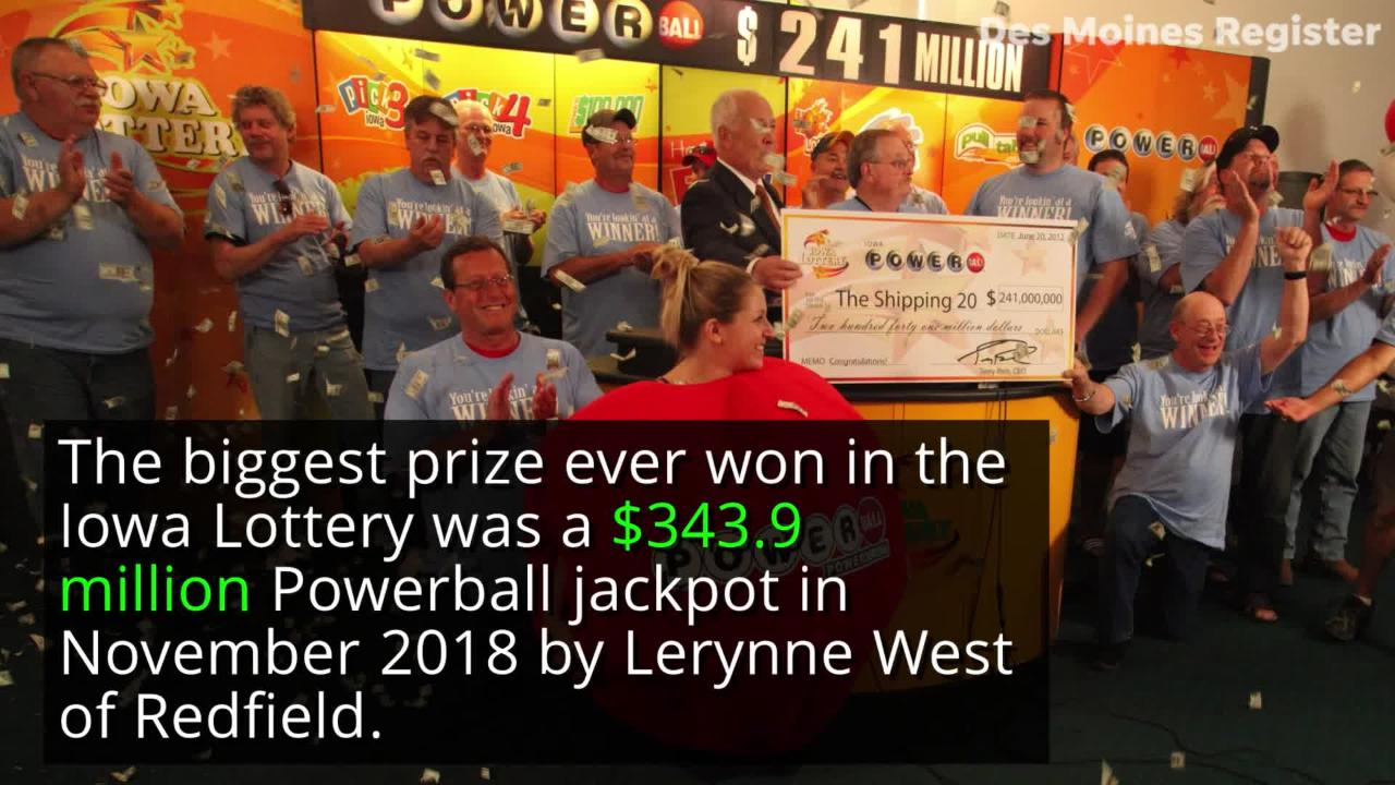 Iowa has received billions of dollars for various projects thanks to the state's lottery system.
