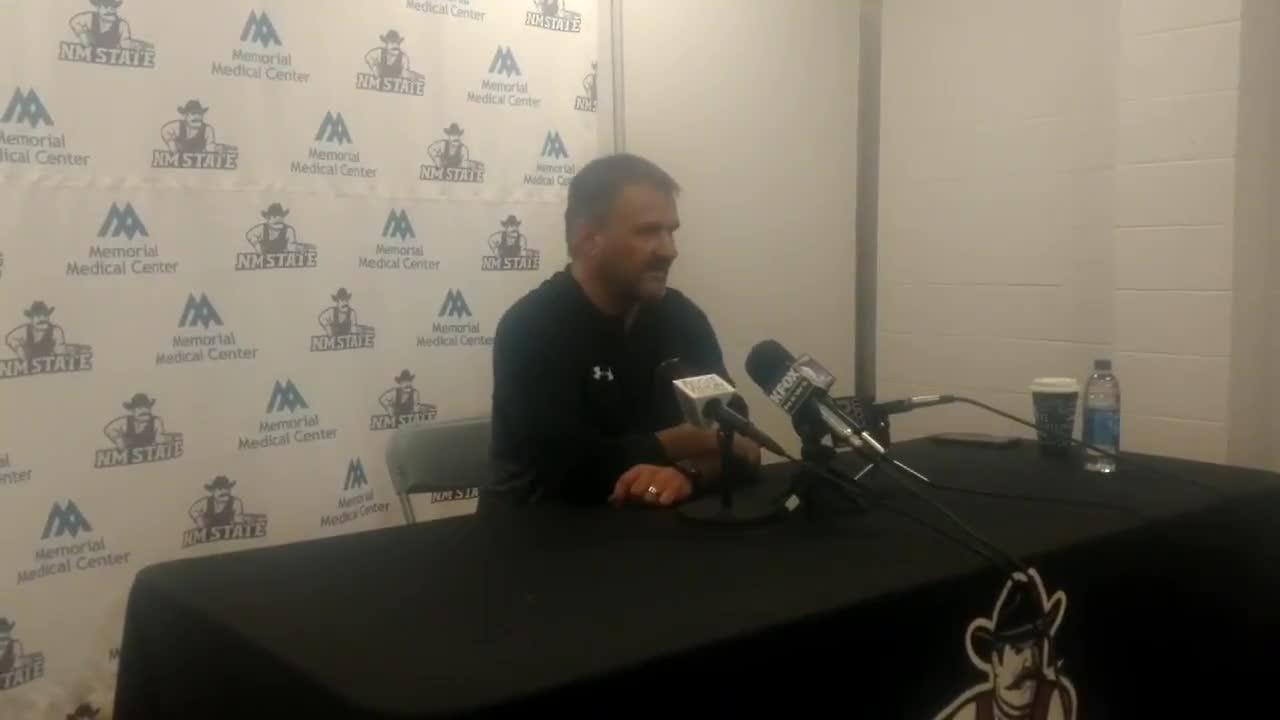 New Mexico State basketball coach Chris Jans looks back on near upset of No. 1 Kansas