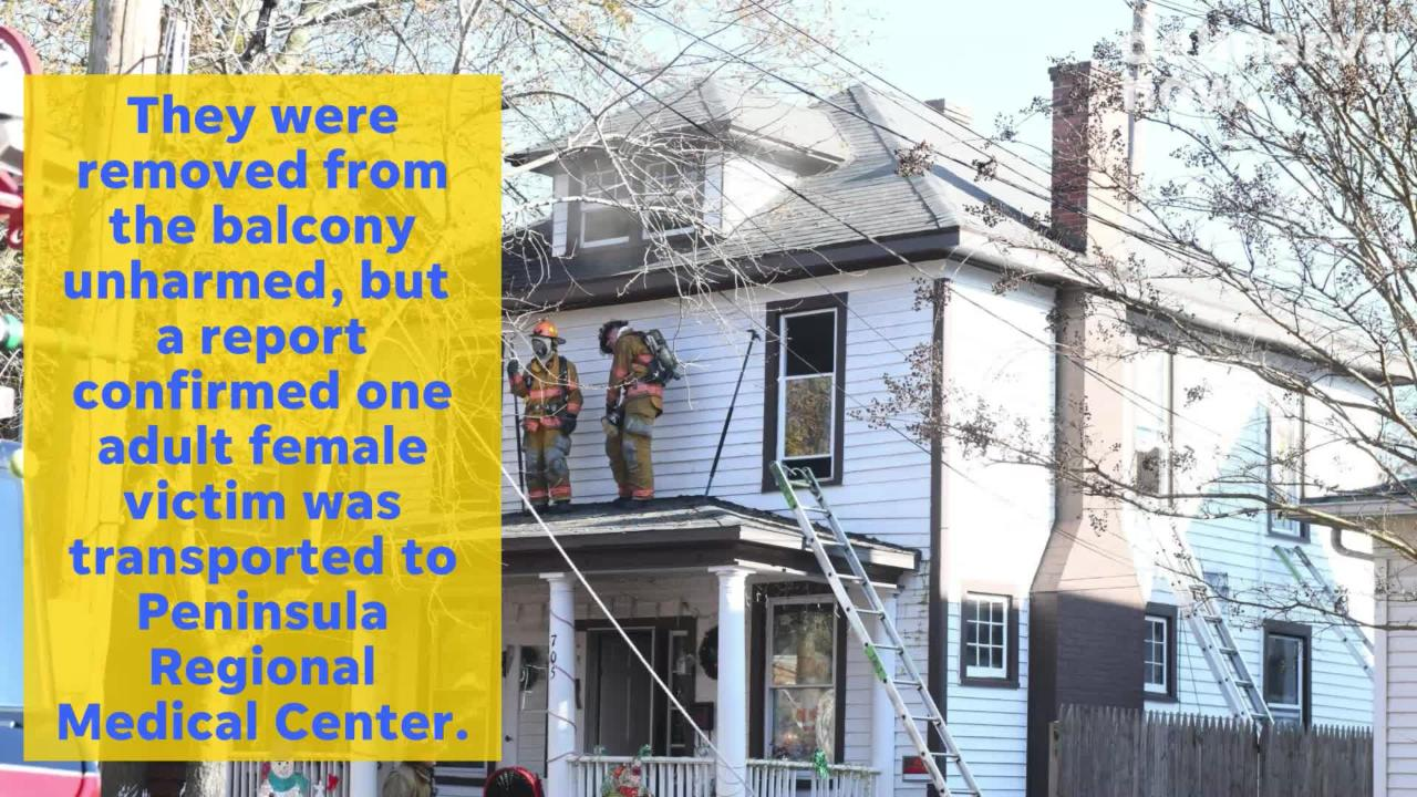 Firefighters responded to the fire at 705 Camden Ave. in Salisbury around 11 a.m. Tuesday.