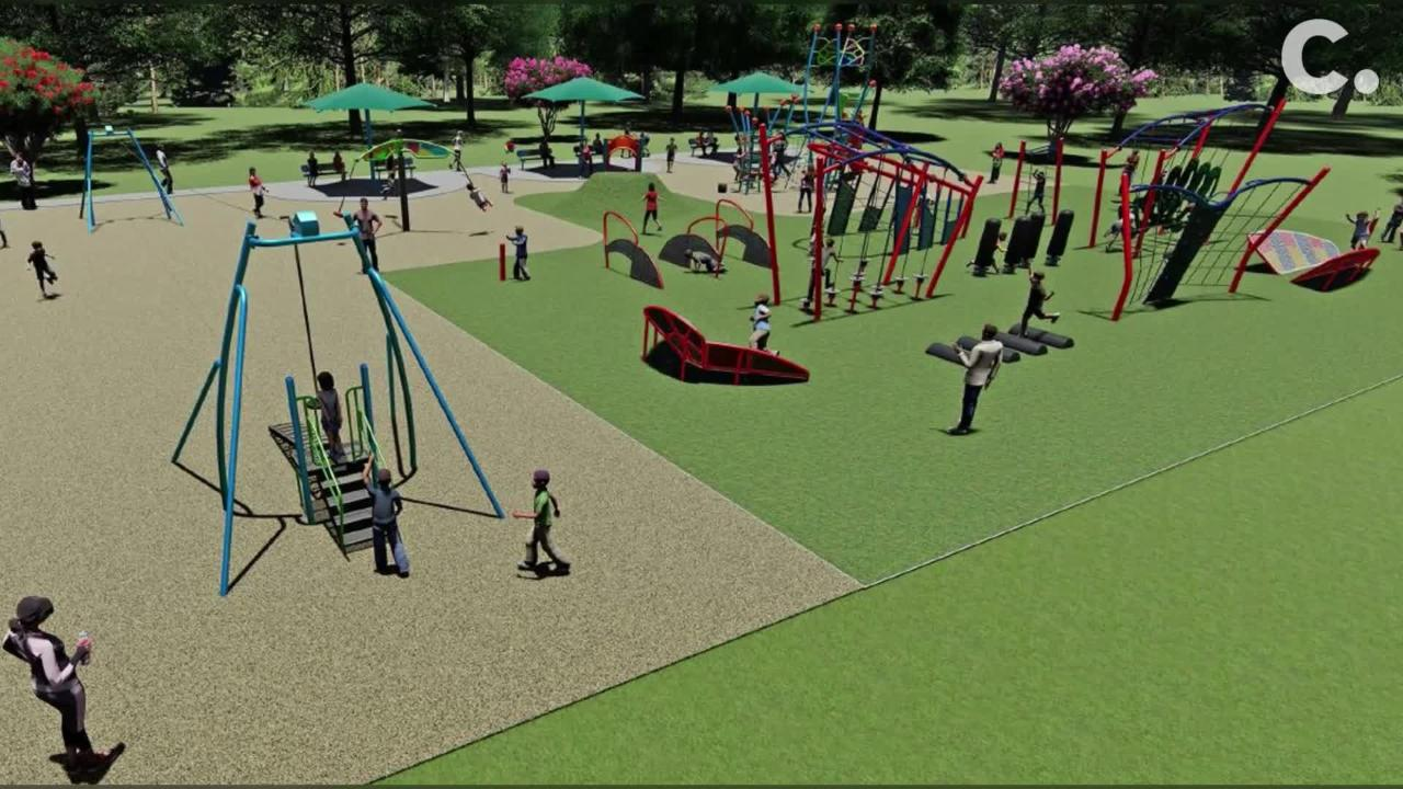 Here's a peek at the new playground that will replace iconic Megaland at Colerain Park this spring.