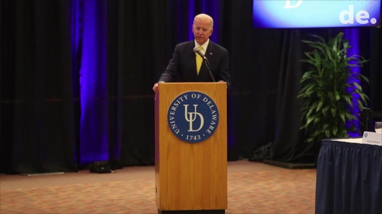 UD names School of Public Policy after Joe Biden