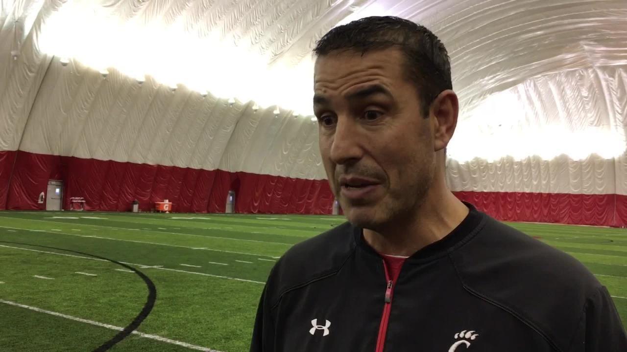 UC's Luke Fickell, Michael Warren discuss Military Bowl practice with Scott Springer