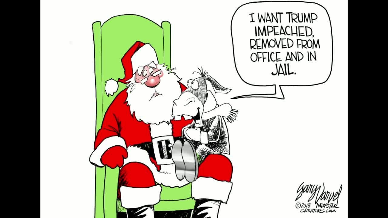 Watch Gary Varvel's time lapse video of his process of drawing the Democrats' Christmas wish.