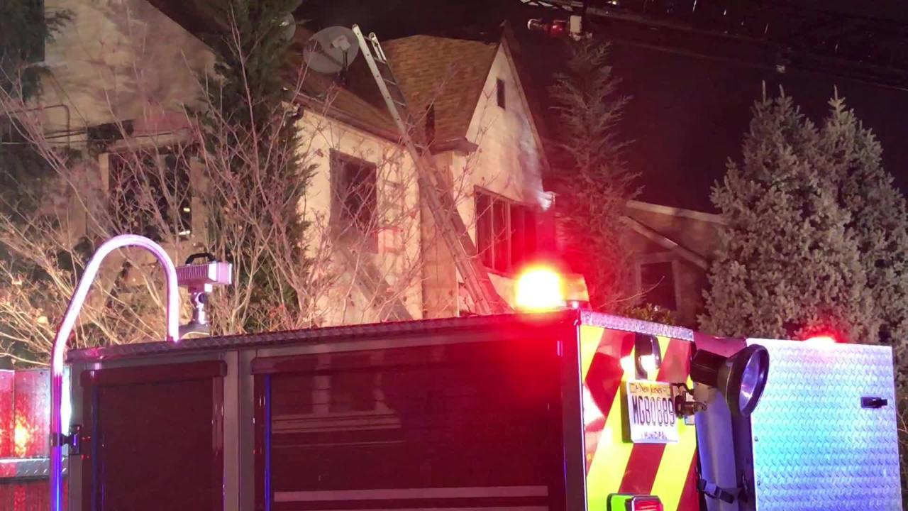 A fire destroyed a Wallington house Dec. 11, 2018.