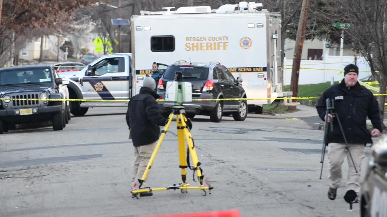 An investigation by the Bogota police and the Bergen County Sheriff and Prosecutor's Office is underway outside of a bar in Bogota on Dec. 12, 2018.