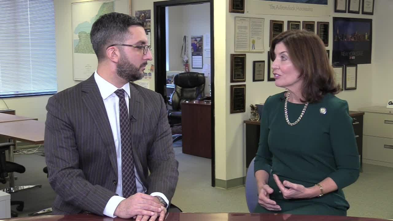 Lt. Gov. Kathy Hochul stopped by the USA TODAY Network's Albany Bureau on Mon., Dec. 10, 2018, to discuss her priorities for 2019.