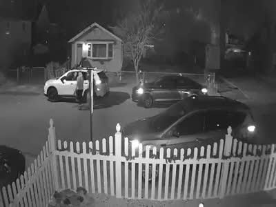 Old Bridge police are searching for two alleged suspects caught on a home security video, who are wanted for questioning in connection with several car burglaries that occurred early Wednesday morning in the Laurence Harbor section of the township.