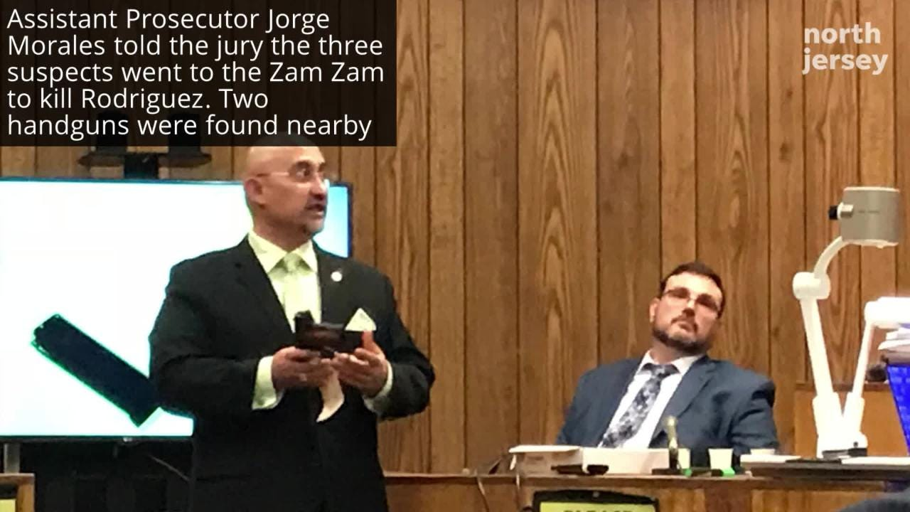The jury has become deliberations of the trial of three men charged in the fatal shooting of Jose Rodriguez outside an after-hours club in Paterson