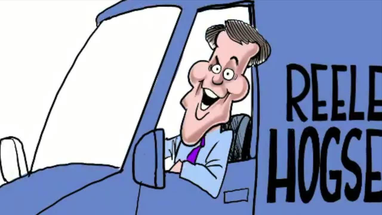 Watch Gary Varvel's time lapse video of his process of drawing Mayor Joe Hogsett's Christmas cartoon.