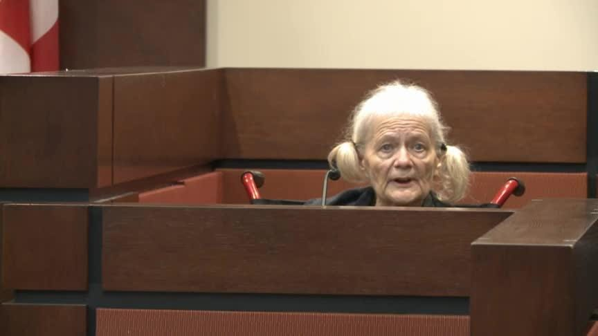 Cheryl Williams, mother of Mike Williams, testifies in court