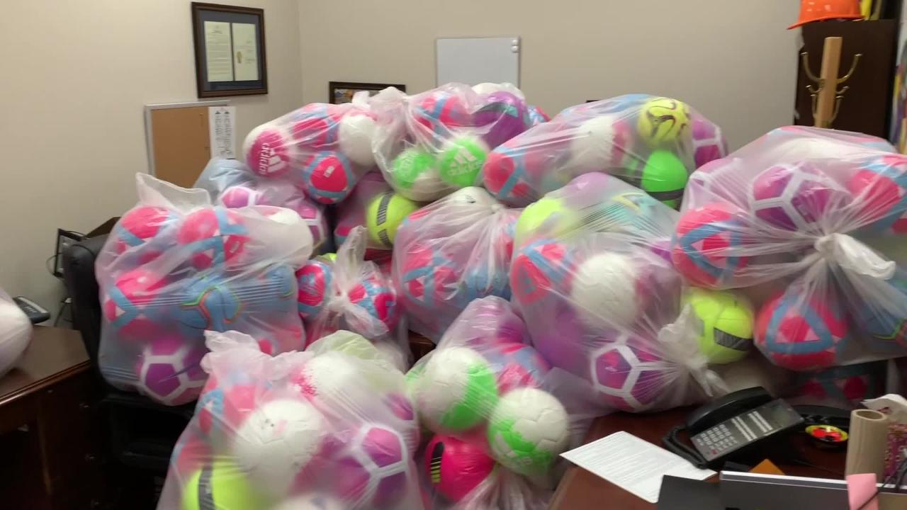 Over 2,600 Immigrant children at Tornillo shelter to receive soccer balls for Christmas.