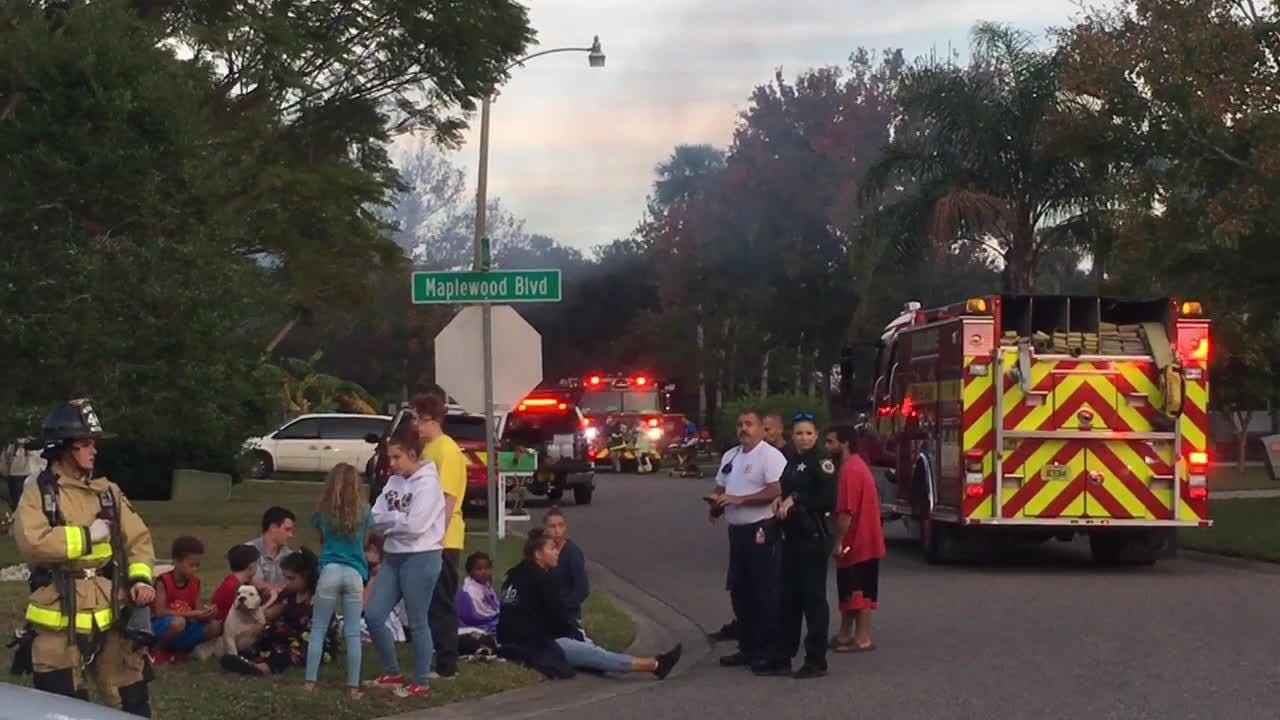 Two people were injured in a fire at a Gatewood Street trailer park near Cocoa on Wednesday.