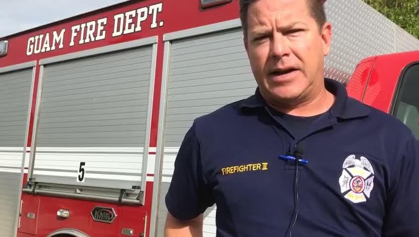 Guam Fire Department spokesman Kevin Reilly speaks about the ongoing search for crab hunter Michael Guerrero who went missing Dec. 12, 2018.