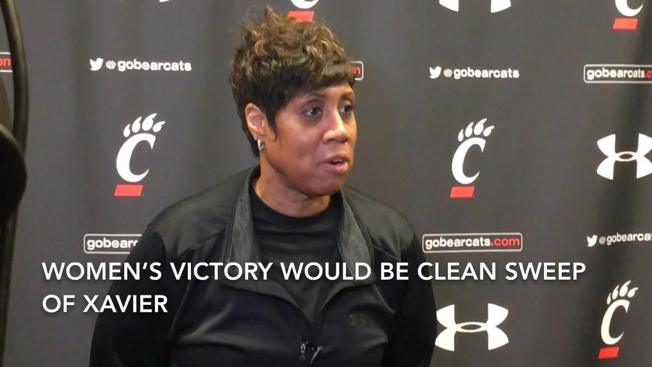 UC women's coach Michelle Clark-Heard on Crosstown Shootout Sunday