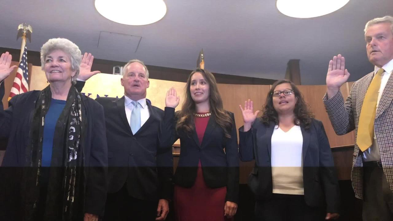 Gabriela Basua and Vianey Lopez are the newest members of the Oxnard City Council.
