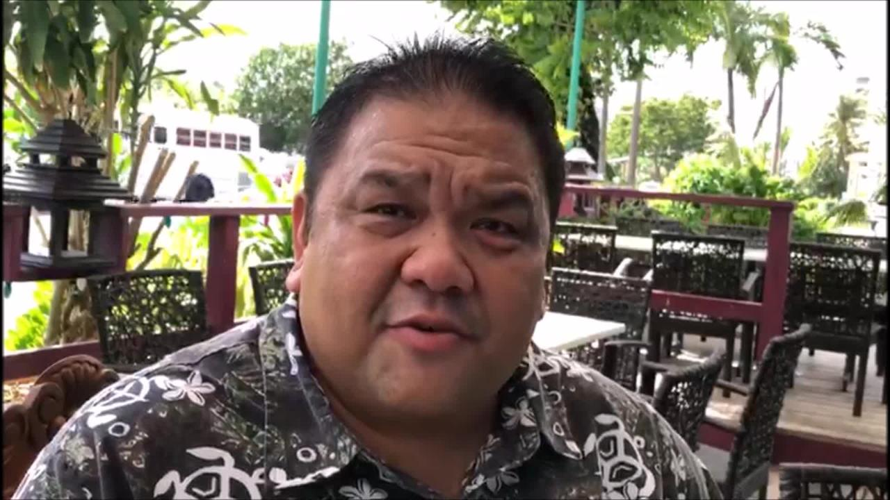 Tinian Mayor Joey Patrick San Nicolas and Father Rey Rosal are currently on Guam to personally thank those who helped and continue to help Tinian after the devastation caused by Super Typhoon Yutu.