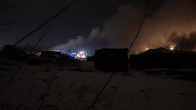 Firefighters battle warehouse blaze early Thursday.