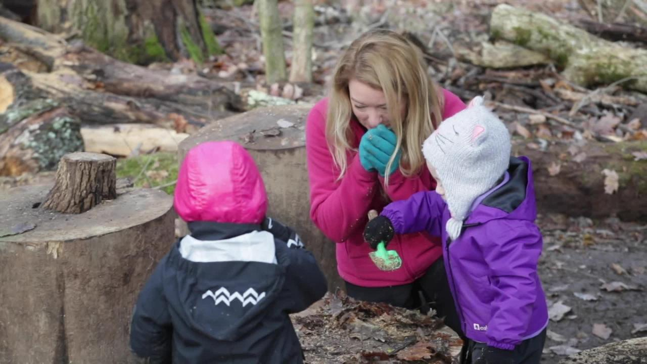 Thrive Forest School is an outdoor classroom thatrevolves around getting young children outside and interacting hands-on with nature.