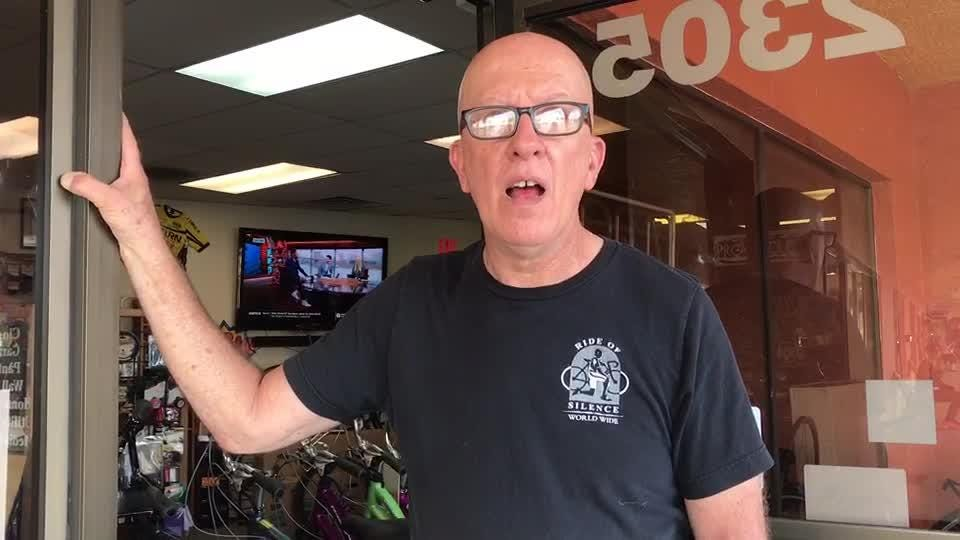 John Silvia, owner of Pro Cycles near the jewelry store, describes hearing a gunshot during a robbery Dec. 13, 2018.