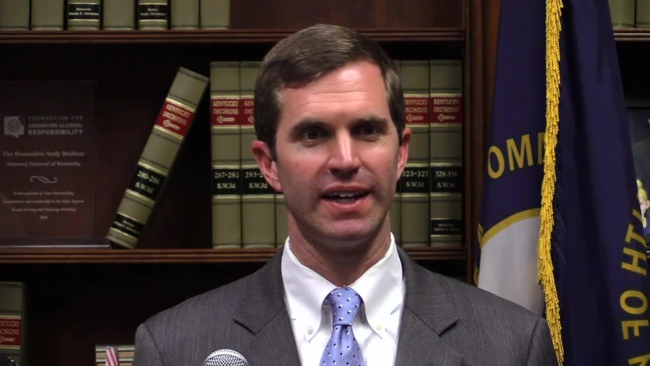 Andy Beshear reacts to the Kentucky Supreme Court pension reform ruling.