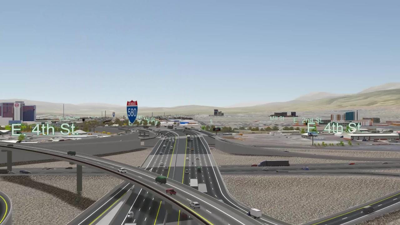 The Nevada Department of Transportation details new braided ramps, freeway widening under its preferred plan for the Reno-Sparks Spaghetti Bowl.