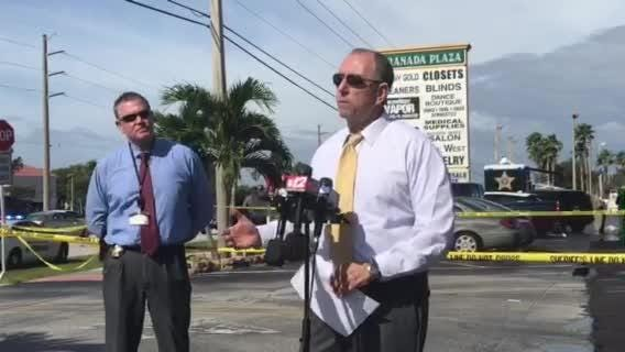 Sheriff William Snyder said two teens from Fort Lauderdale were involved in a Jensen Beach jewelry store robbery. One is on life support.