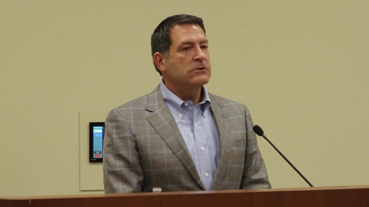 U.S. Rep.-elect Mark Green hosts a town hall meeting at William O. Beach Civic Hall in Clarksville on Wednesday, Dec. 12, 2018.