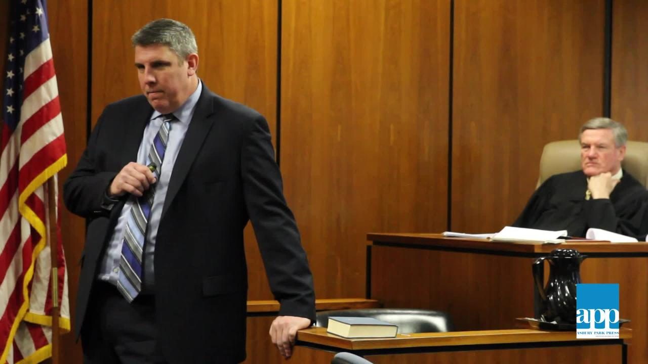 Michael Weatherstone, supervising assistant Ocean County prosecutor, delivers his opening argument in the murder trial of Daniele RomeoDisantillo.
