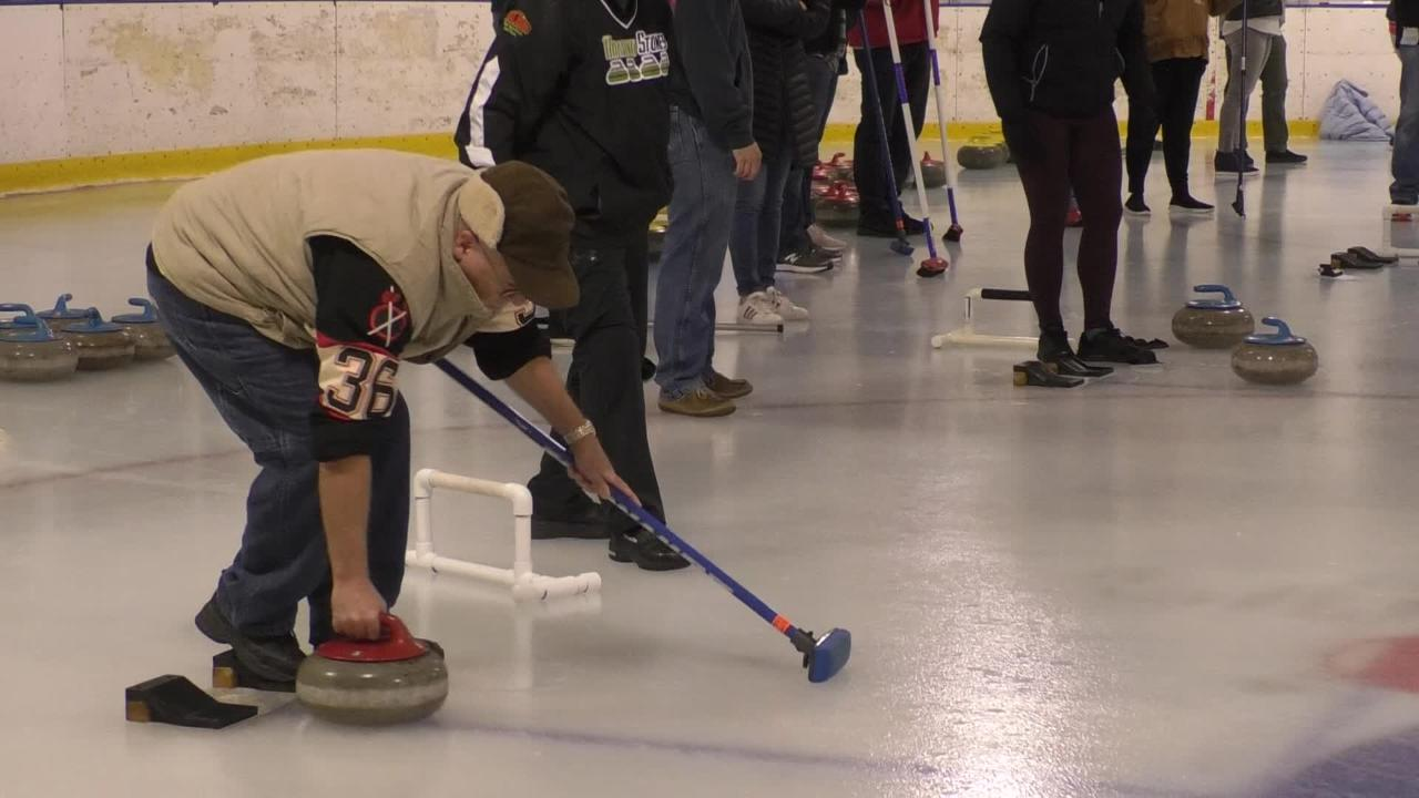 Louisville has a curling club where people can learn how to curl.