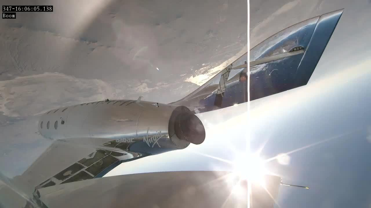 A pair of test pilots flew Virgin Galactic's SpaceShipTwo above 50 miles.