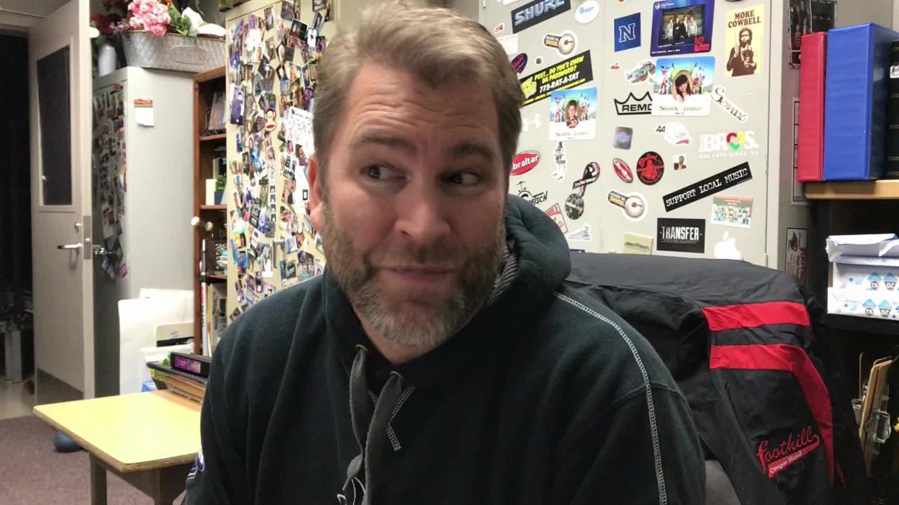 Foothill High School music teacher Mitch Bahr has fond memories of former student Sarah Papenheim.