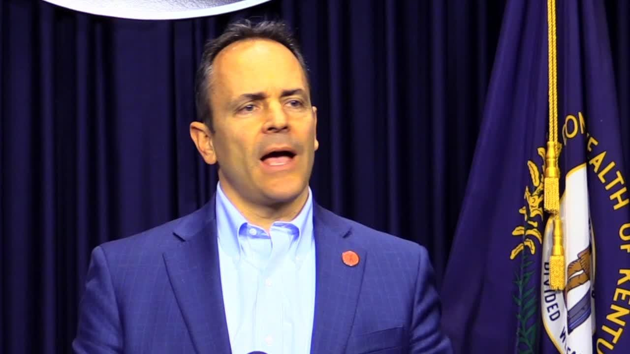 Kentucky Gov. Matt Bevin and attorney general Andy Beshear have polar opposite reactions to the Supreme Court pension bill ruling. Dec. 13, 2018